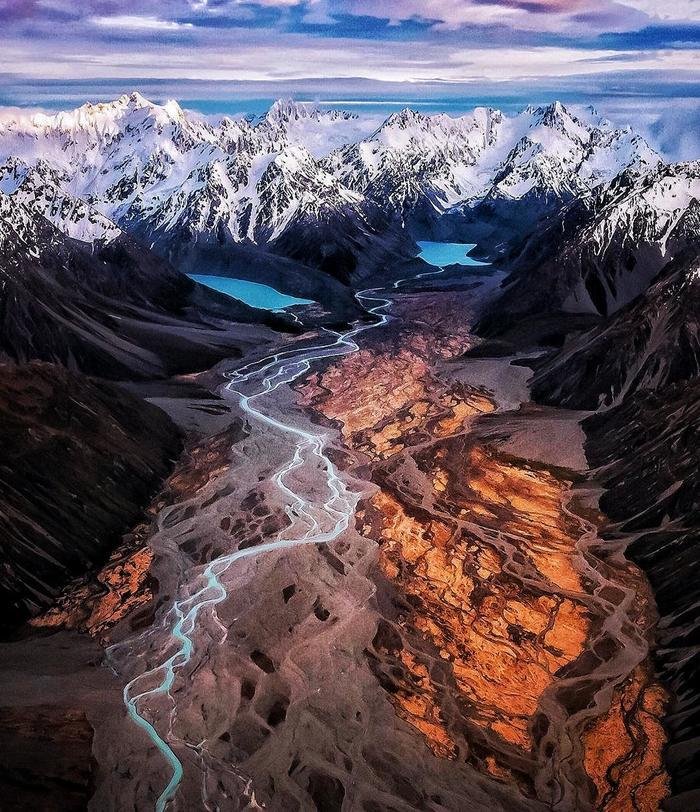 Пролетая над Мордором Новая Зеландия, Национальный парк, Тонгариро, Мордор, Фотография, Горы, Озеро, Вулкан
