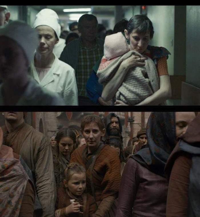 Кадры из двух разных фильмов HBO