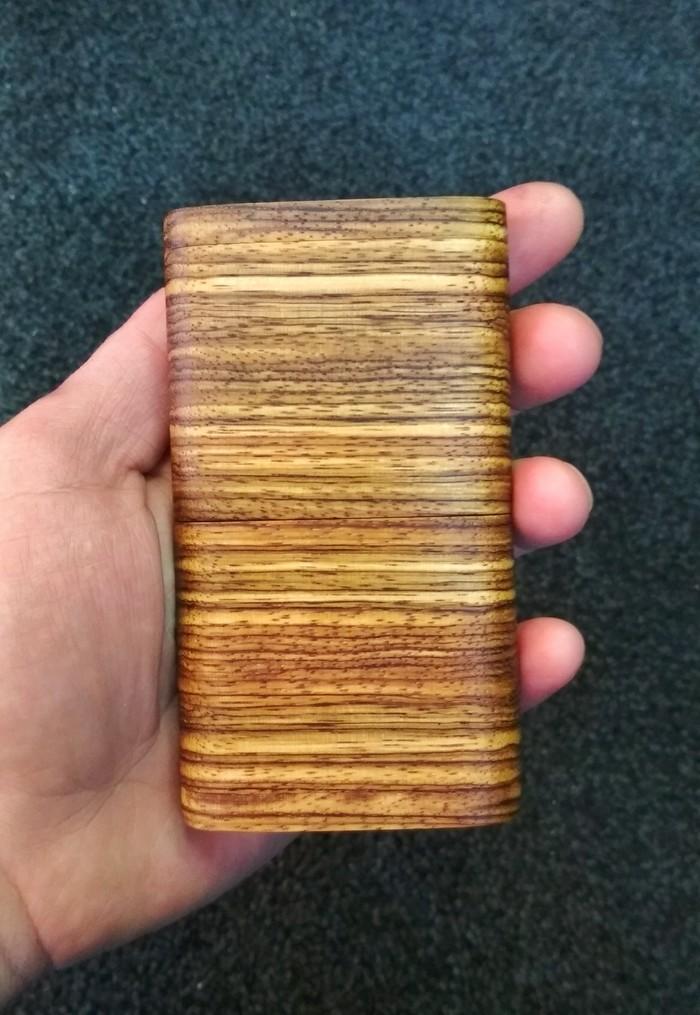 Портсигар для стиков из древесины Зебрано Длиннопост, Рукоделие без процесса, Зебрано, Дерево, Ручная работа, Портсигар