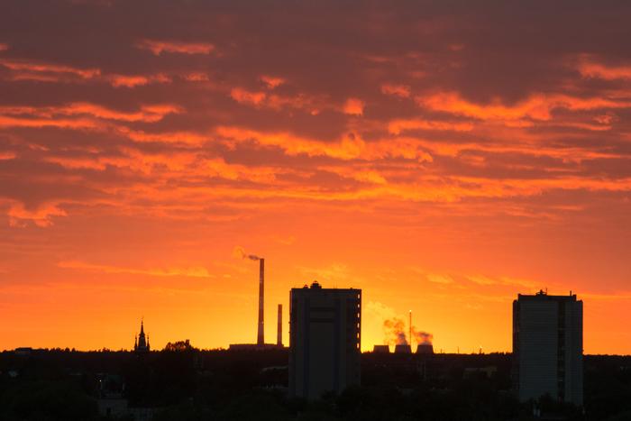 Вчерашний закат в Казани