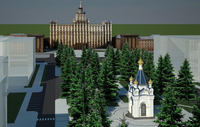 В Челябинске из-за протеста заморозили строительство часовни Челябинск, Скандал, Екатеринбург, Часовня, Строительство храма