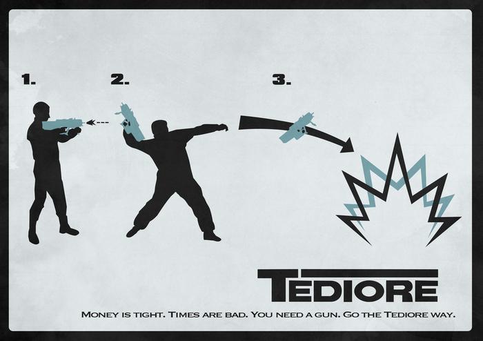 Когда твоя пушка одновременно граната. Borderlands, Tediore, Оружие, Креативная реклама
