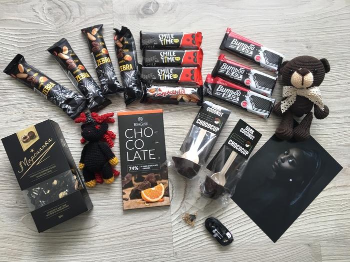 Цвет настроения - черный и полный восторг :D Обмен подарками, Отчет по обмену подарками, Благодарность, Длиннопост