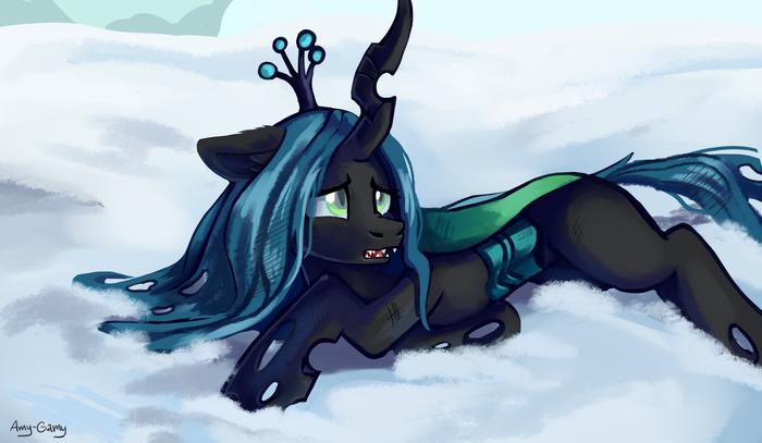 Голодная и холодная. My Little Pony, Queen Chrysalis, Amy-Gamy