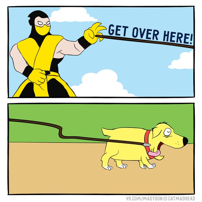 Утренняя прогулка Комиксы, Mortal Kombat, Веб-Комикс