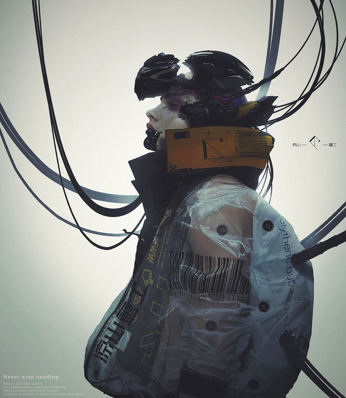 Sci-fi художник, концепт-исполнитель Luye Liangshanzhonggong Арт, Рисунок, Длиннопост