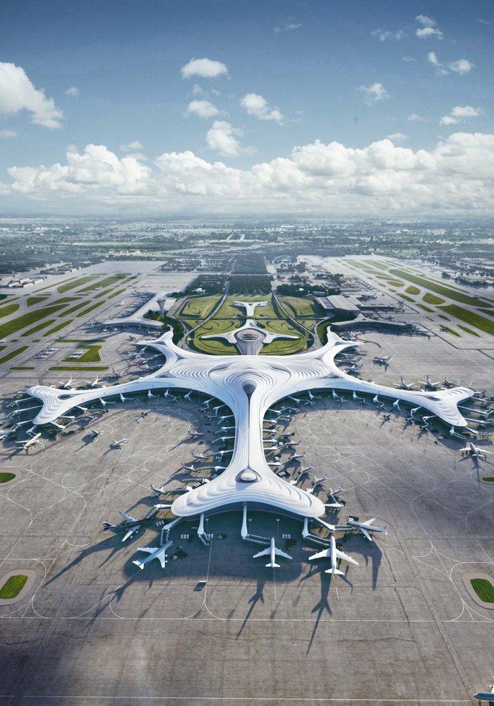 Проект нового терминала аэропорта в городе Харбин. Харбин, Китай, Аэропорт, Длиннопост