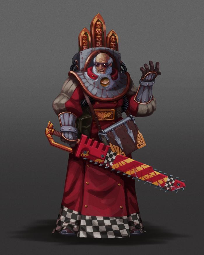 Ministorum Priest Wh Art, Warhammer 40k, Ecclesiarchy, Priest