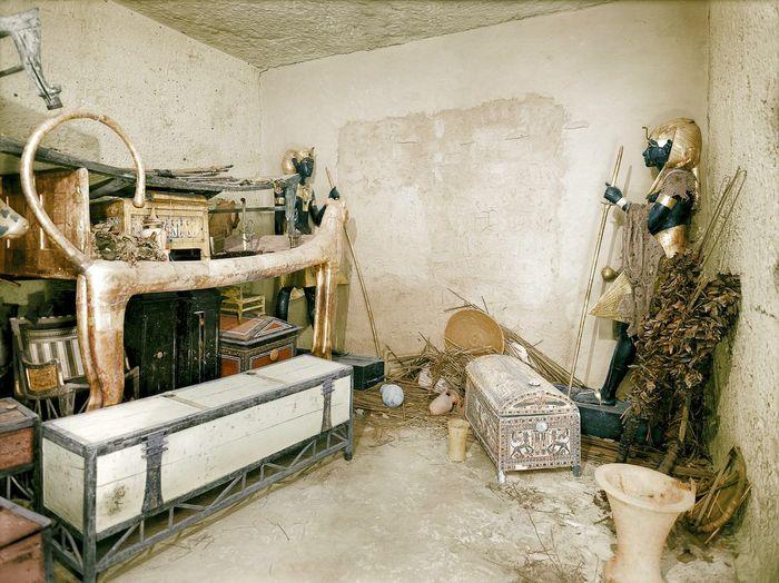 Древняя кладовка Тутанхамон, Египет, Древний Египет, Фараон, Гробницы, Археология, Историческое фото, Кладовка
