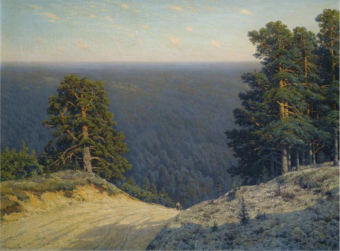 Константин Крыжицкий «Пейзаж», 1908 год.