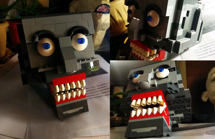 Когда решил сделать свой первый MOC LEGO, Череп, Ожидание и реальность, Взгляд в душу, LEGO ideas, LEGO MOC
