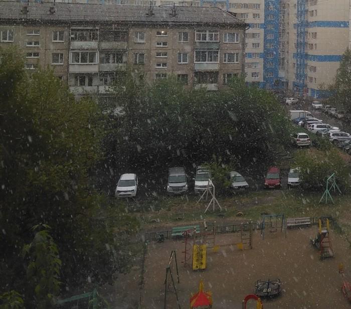Иркутск. 28 мая Снегопад, Зима наступает, Иркутск, Май