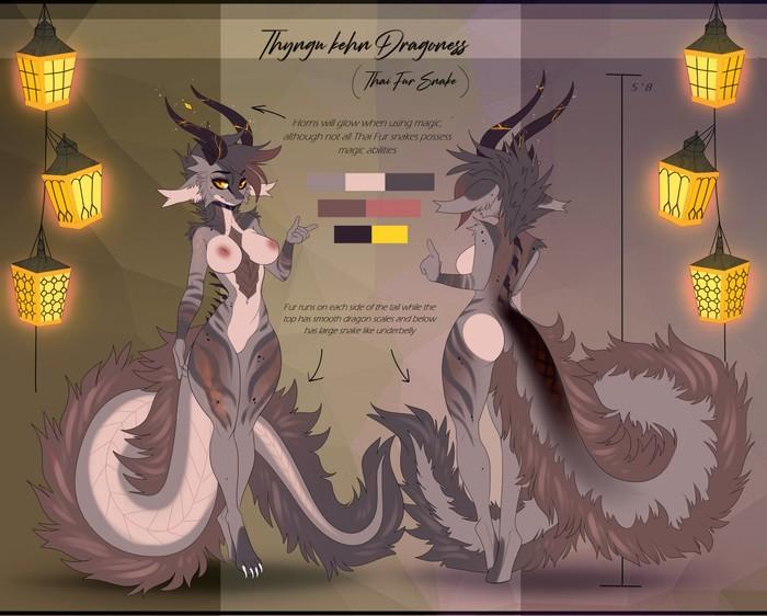 Разные варианты Драконессы Фурри, Арт, Furry Art, Aimi, Furotica, Furry Dragon, Длиннопост