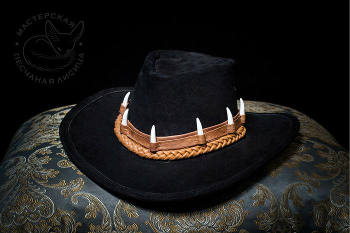 """Шляпа """"Крокодил Данди"""" Ручная работа, Шляпа, Кожа, Крафт, Своими руками, Длиннопост, Рукоделие без процесса, Изделия из кожи"""
