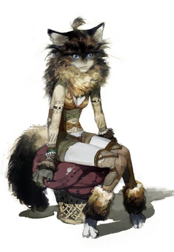 A cat is fine too Anime Art, Кошкодевочка, Аниме