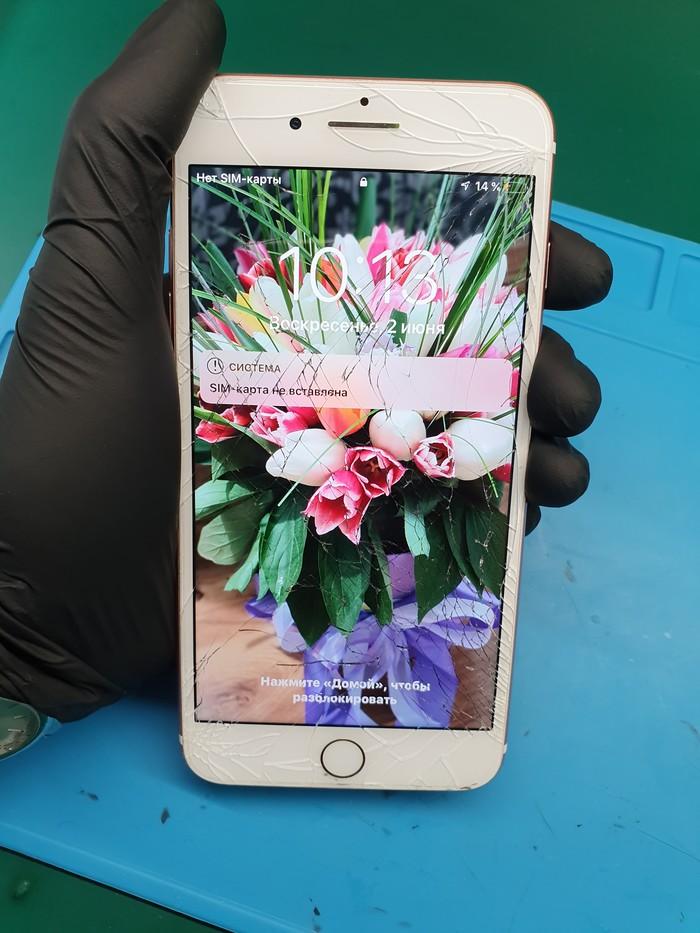 IPhone 7+ переклейка стекла Ремонт, Замена стекла, Iphone 7, Длиннопост