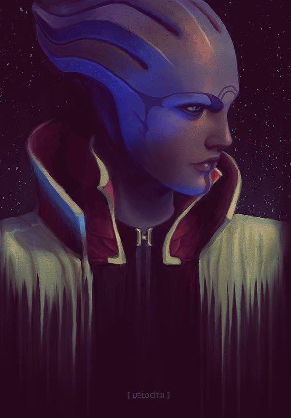 Mass Effect. Арт, Фан-Арт, Картинки, Mass Effect, Длиннопост, Edi, Aria tloak