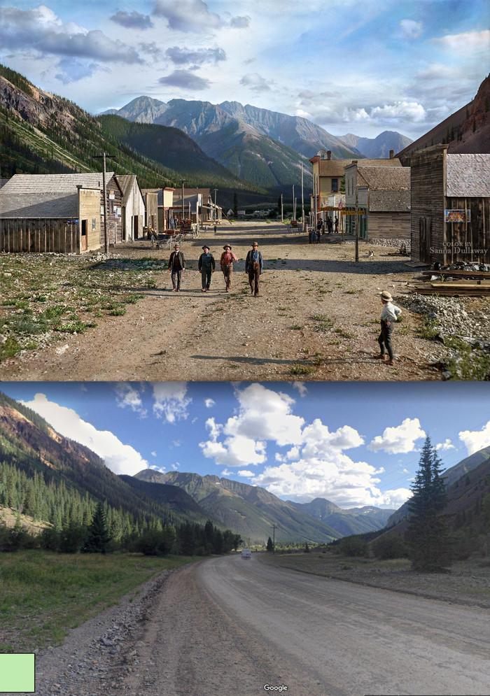 Одно и тоже место с разницей в 119 лет США, Колорадо, Фотография, Reddit