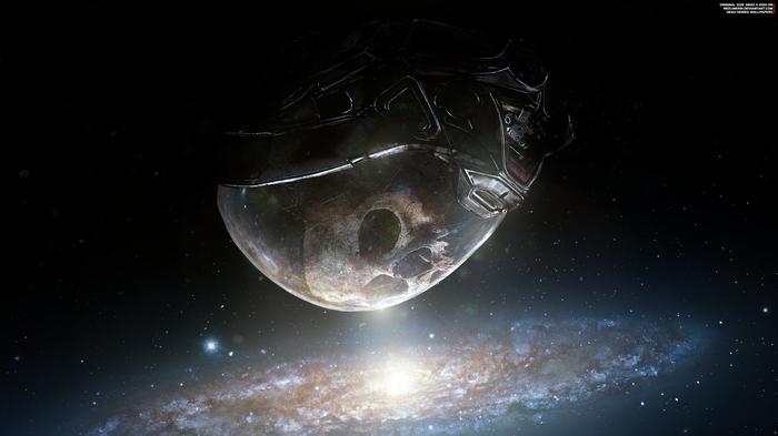 """Мертвая мечта"" - Mass Effect Andromeda 4K Mass Effect, Mass Effect:Andromeda, Шлем, Райдер, Андромеда, Череп"