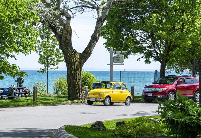 Fiat 500 Fiat 500, Желтый, Автомобильная классика, Длиннопост