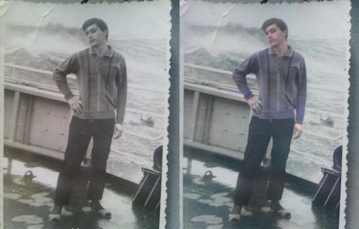 Моя первая колоризация Колоризация, Фотография, Черно-Белое, Старое фото, Атлантика, Корабль