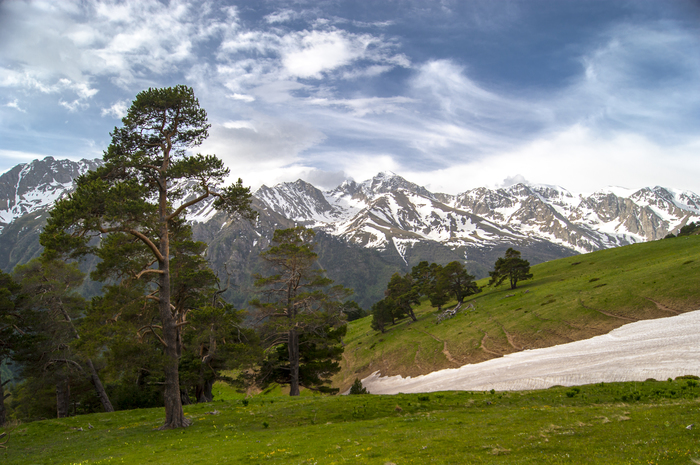 Хребет Мысты-Баши Горы, Пейзаж, Фотография, Туризм, Природа, Поход, Архыз, Активный отдых