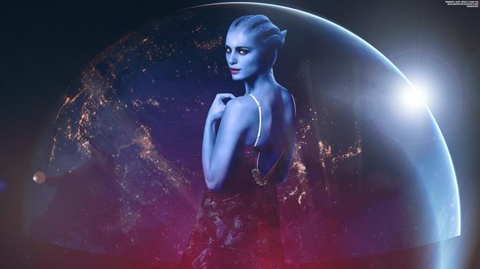 """Наблюдатель"" - Mass Effect Trilogy 4K Mass Effect, Азари, Брови, Планета, Обои на рабочий стол"