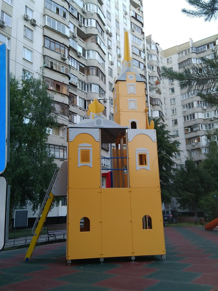 Детская площадка-храм РПЦ, Детская площадка, Митино, Длиннопост