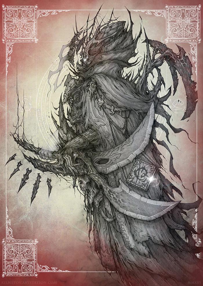 Всем ПРИВЕТ!)_2 Kilmetov_art, Рисунок, Графика, Фэнтези, Персонажи, Концепт-Арт, Ангелы и Демоны, Иллюстрации, Длиннопост