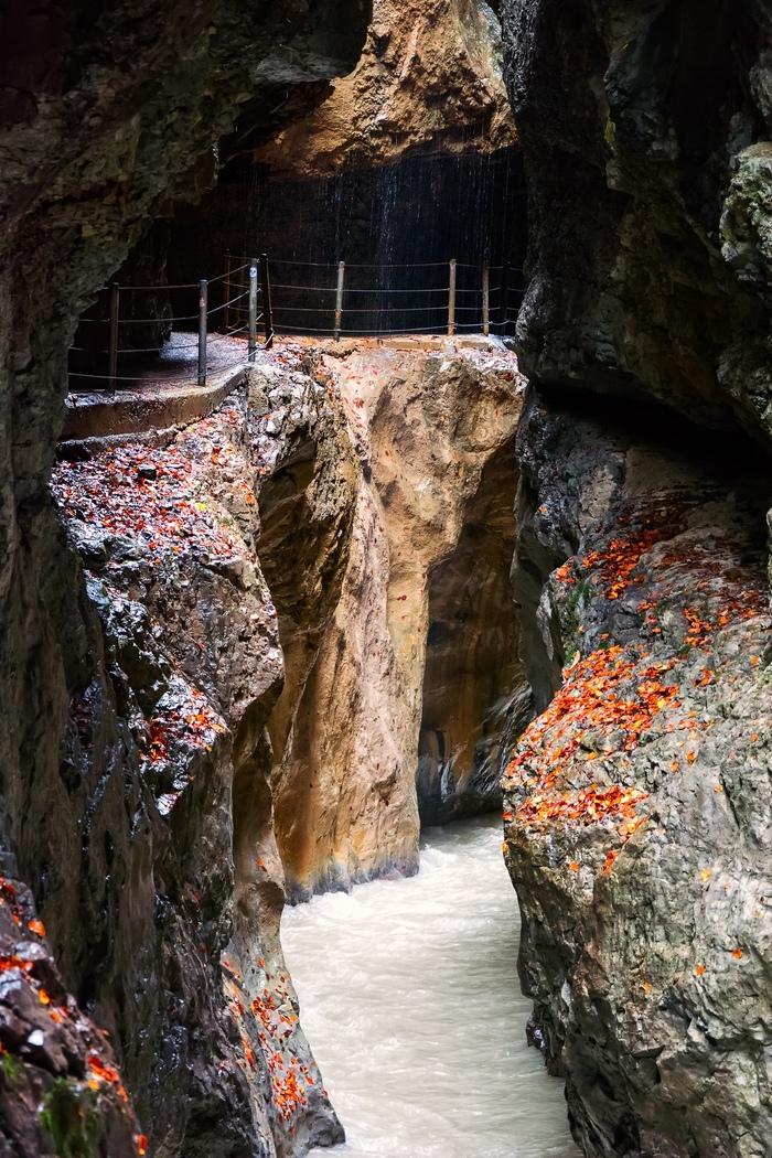 Ущелье Партнахкламм Бавария, Гармиш-Партенкирхен, Германия, Ущелье, Партнахкламм, Альпы, Длиннопост