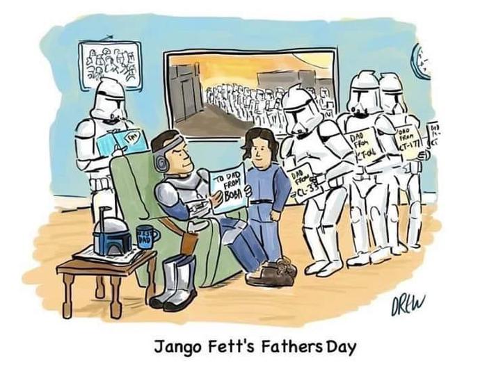На недостаток внимания в свой отцовский день Джанго Фет не жаловался.