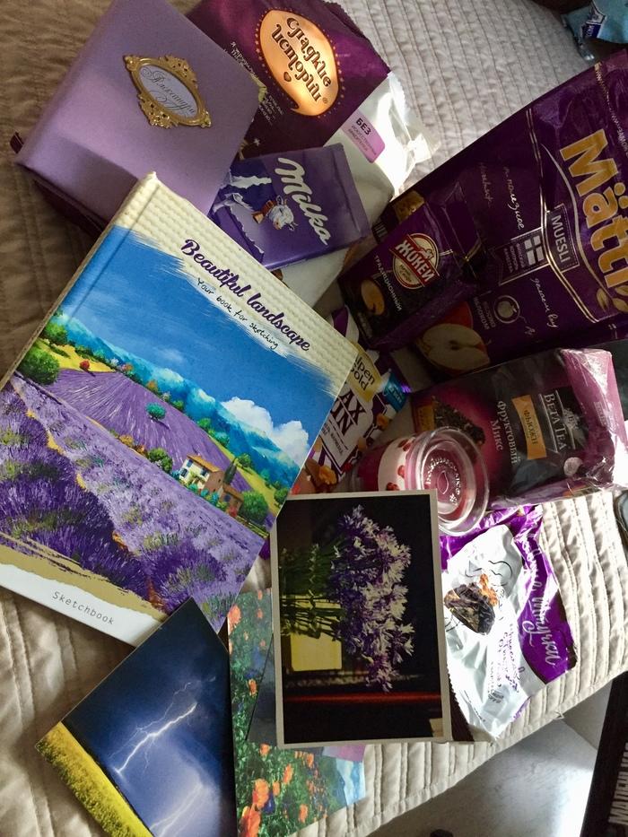 Цвет настроения сиреневый Обмен подарками, Отчет по обмену подарками, Тайный Санта, Новый Год, Подарок