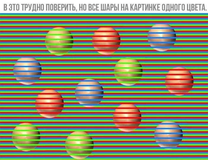 Какого цвета шары?