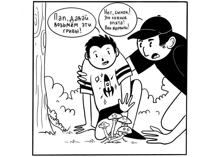 Ложные опята Комиксы, Веб-Комикс, Грибы, Юмор, Рисунок, Длиннопост