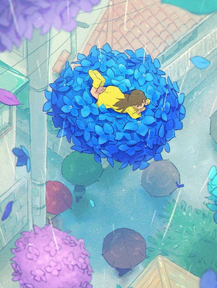 Rain Арт, Дождь