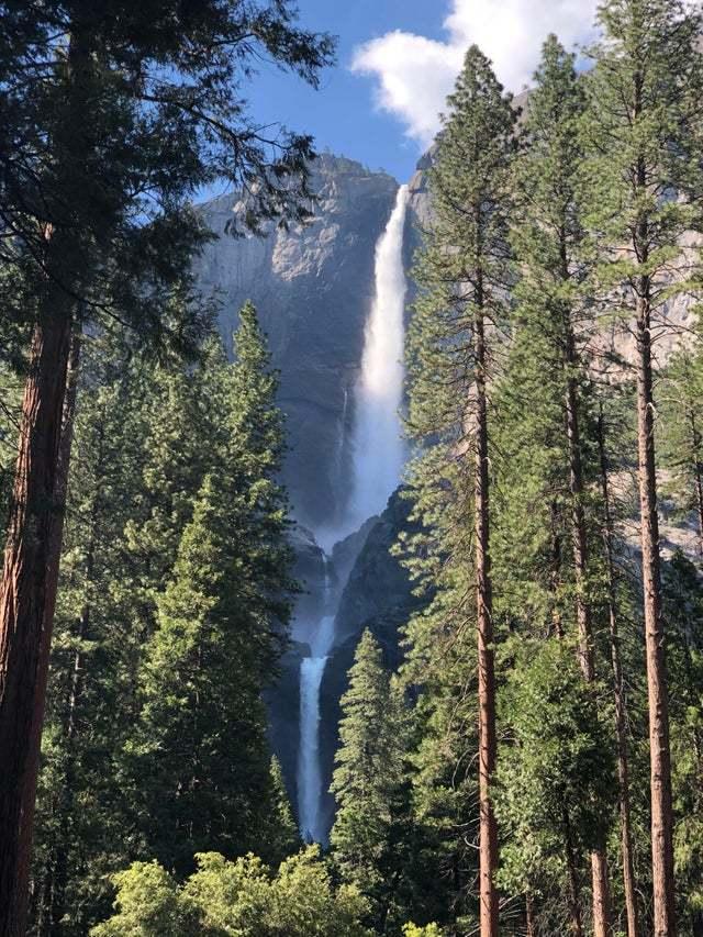 Йосемитские водопады Красота природы, Фотография, Горы, Водопад, США, Национальный парк, Длиннопост