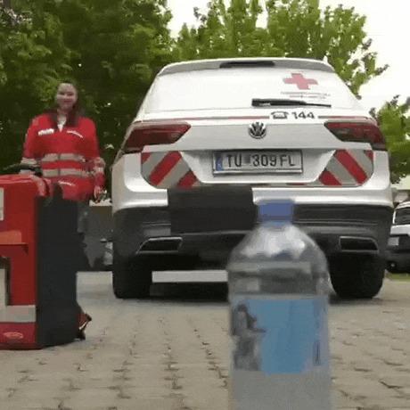 Милое продолжение челленджа Bottle Cap Challenge, Собака, Гифка, Бутылка