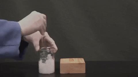 Барий в гифках Гифка, Лига химиков, Химия, Эксперимент, Барий, Длиннопост