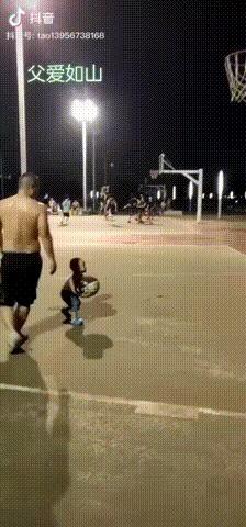 Хороший отец Отец, Малыши, Баскетбол, Гифка