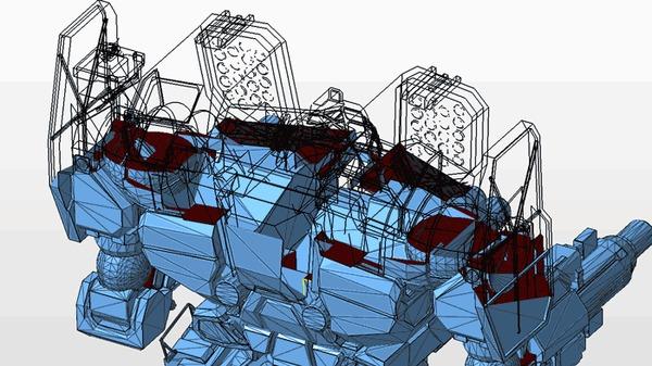 MWO Mauler MAL-1R Mechwarrior Online, Mwo, 3D печать, Робот, Гифка, Длиннопост
