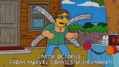 Симпсоны на каждый день [8_Октября] Симпсоны, Каждый день, Осьминог, Гифка, Длиннопост