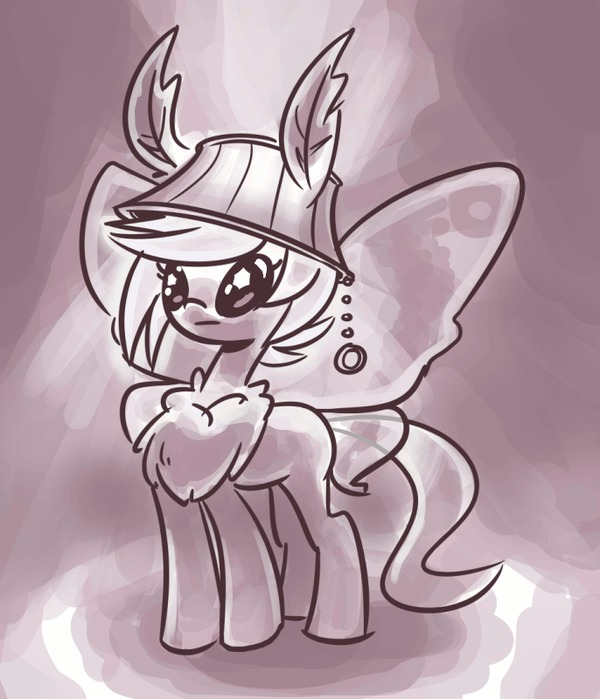 Ламповая моль My Little Pony, Original Character, Гифка, Мотылек