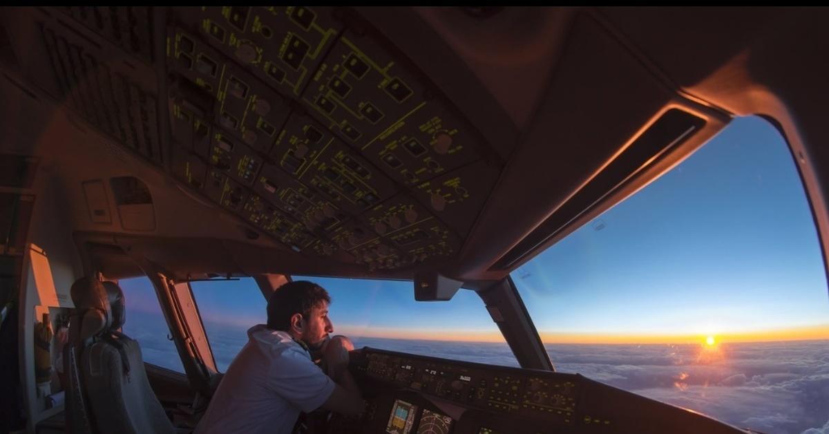 фотографии из кабины пилота важно следить своим