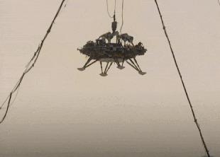 Китайцы испытали марсианскую посадочную платформу Космос, Китай, Марс, Чанчжэн-5, Марсоход, Гифка, Видео, Длиннопост