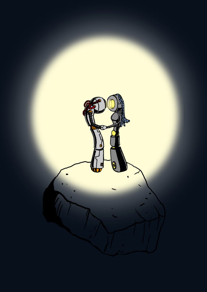 Space Romantic Космос, Романтика, Компьютерная графика, Арт, Длиннопост