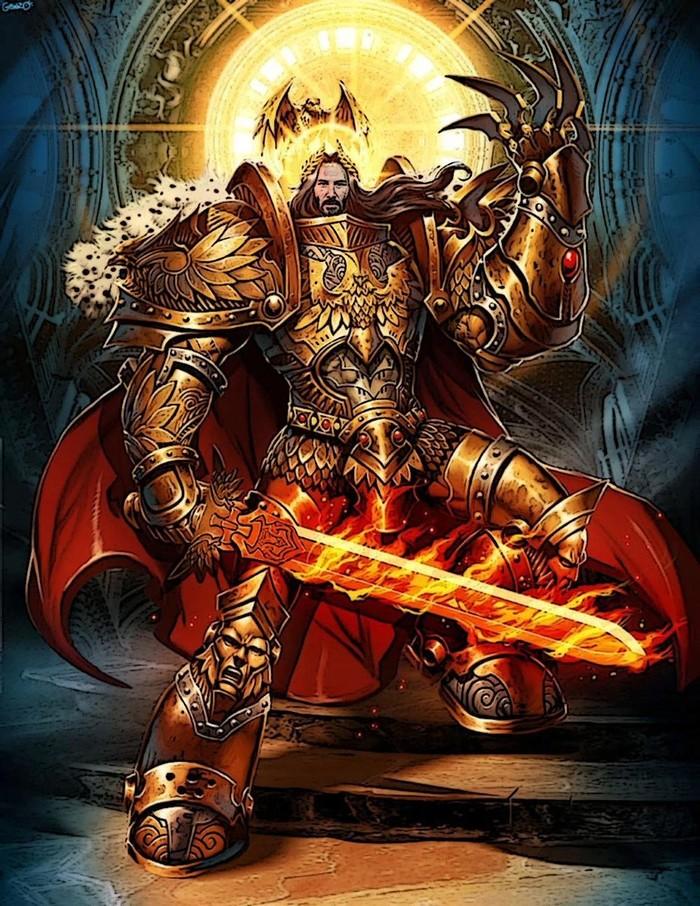 Я так и знал Киану Ривз, Император человечества, Warhammer 40k