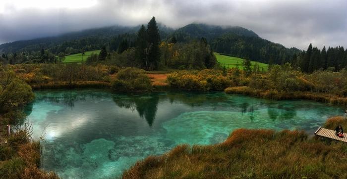 Региональный ландшафтный парк Зеленцы. Словения. Природа, Красота природы, Озеро, Словения, Путешествия, Длиннопост