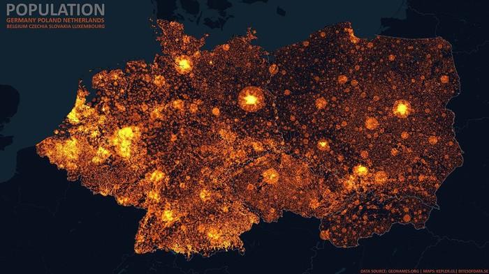 Карты плотности населения России, Европы, США и Австралии Карта мира, Плотность населения, Длиннопост, Reddit, Европа, Россия