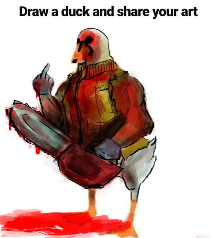 Обычным людям предложили завершить картинку утки Рисунок, Утка, Воображение, Завершить, Длиннопост, Я художник - я так вижу