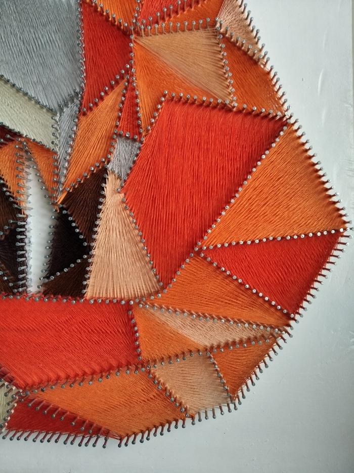 Лиса в стиле String Art String Art, Рукоделие без процесса, Длиннопост